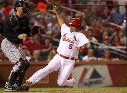 Cardinals Albert Pujols scores