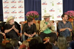 Performers at Press Conference at Farm Aid in Hershey, PA