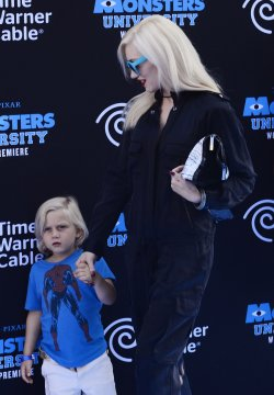 """Gwen Stefani attends the """"Monsters University"""" premiere with her son Zuma in Los Angeles"""