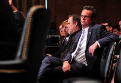 Actor Matthew Perry attends a hearing on drug and veterans treatment courts in Washington