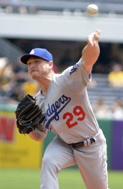 Dodgers Starter Scott Kazmir Throws Against Pirates