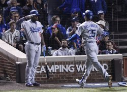 Dodgers Puig salutes Bellinger against Cubs in NLCS