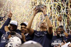 Penn State head coach James Franklin in the Big 10 Championship