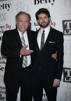 George Segal and Johnathan McClain arrive for Betty White's 89th Birthday Party in New York