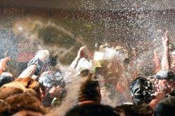 Diamondbacks' spray beer and champagne