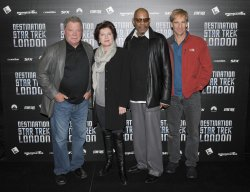 "William Shatner, Kate Mulgrew, Avery Brooks and Scott Bakula attend ""Destination Star Trek London"" in London."