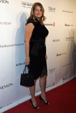 Lorraine Bracco arrives for the Elton John AIDS Foundation Gala in New York