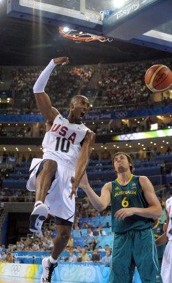 USA vs. Australia Basketball at 2008 Summer Olympics in Beijing
