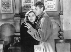 Joan Fontaine and Laurence Olivier in 'Rebecca'