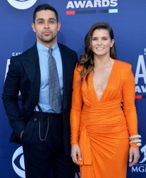 Wilmer Valderrama and Danica Patrick attend the Academy of Country Music Awards in Las Vegas