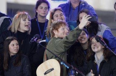 Ed Sheeran perfomrs on NBC Today Show in New York