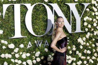 Candice Swanepoel at the Tony Awards