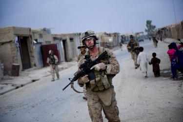 Marines patrol Helmand Province in Afghanistan