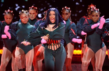 Cardi B performs during the 19th annual BET Awards in Los Angeles