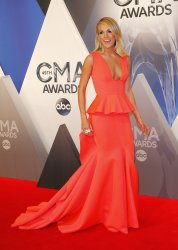 Carrie Underwood arrives at the 49th Annual CMA Awards