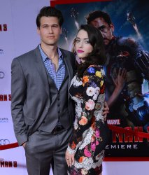 """Kat Dennings and Nick Zano attend the """"Iron Man 3"""" premiere in Los Angeles"""