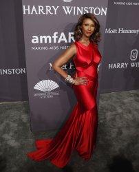 Iman arrives at annual amfAR New York Gala