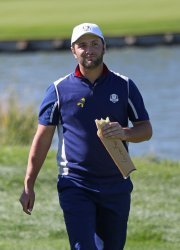 Jon Rahm practice session at the Ryder Cup 2018