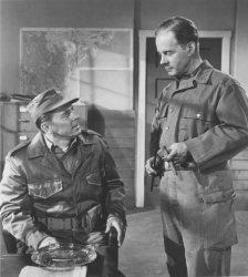 "Ronald Reagan and Harry Morgan in ""Prisoner of War"""