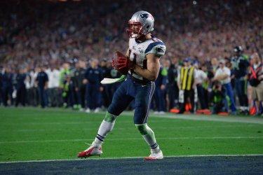 New England Patriots vs Seattle Seahawks in Super Bowl XLIX in Phoenix, Arizona
