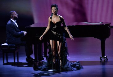 Halsey performs at Primetime Emmy Awards in Los Angeles