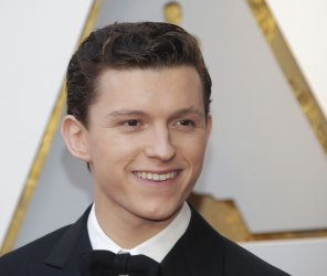 Tom Holland arrives at the 90th Annual Academy Awards in Hollywood