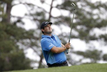 Patrick Reed hits a tee ball at the Masters