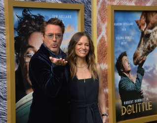 """Robert Downey Jr. and Susan Downey attend the """"Dolittle"""" premiere in Los Angeles"""