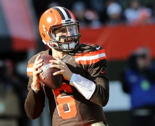 Browns Mayfield looks to throw against Falcons