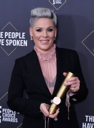 Pink wins award at E! People's Choice Awards in Santa Monica