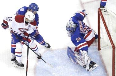 New York Rangers Henrik Lundqvist makes a save