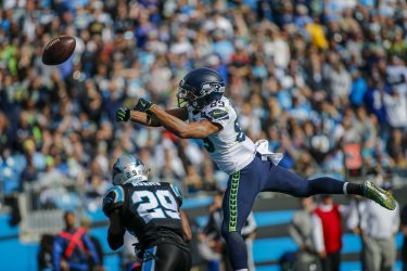 Seattle Seahawks at the Carolina Panthers NFL football game in Charlotte, North Carolina