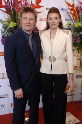 CHEF JAMIE OLIVER  AT THE BRITISH BOOK AWARDS  IN LONDON
