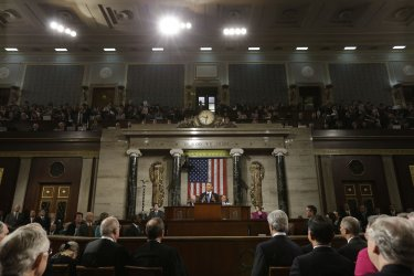 President Obama delivers his State of the Union Address in Washington