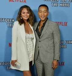 "Chrissy Teigen and John Legend attend ""Between Two Ferns"" premiere in Los Angeles"