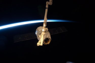 SpaceX Dragon at the International Space Station