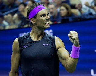 Rafal Nadal, of Spain, at the US Open