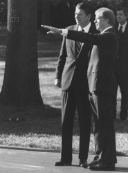 President Carter Points Out Sights to Ronald Reagan
