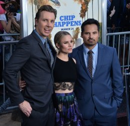 """Dax Shepard, Kristen Bell and Michael Pena attend the """"CHIPS"""" premiere in Los Angeles"""
