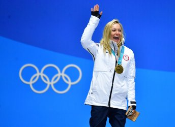 Ladies' Slopestyle Medal Ceremony at the Pyeongchang 2018 Winter Olympics