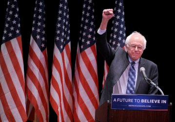 Bernie Sanders delivers a policy address on Wall Street reform