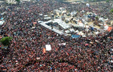 Egyptians rally in the streets of Cairo