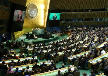 U.S. President Barack Obama addresses the General Assembly at the UN