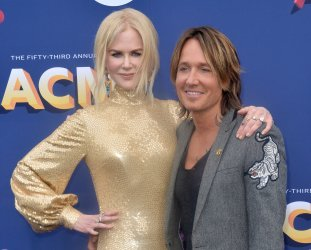 Nicole Kidman and Keith Urban attend the 53rd annual Academy of Country Music Awards in Las Vegas