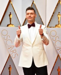 Ryan Seacrest arrives for the 89th annual Academy Awards in Hollywood