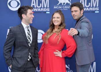 Ty Bentli, Tricia TJ Jenkins and Chuck Wicks attend the Academy of Country Music Awards in Las Vegas