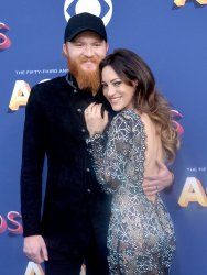 Eric Paslay and Natalie Harker attend the 53rd annual Academy of Country Music Awards in Las Vegas
