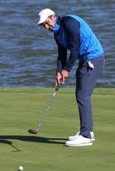 Luis Figo plays celebrity tournament at the Ryder Cup 2018