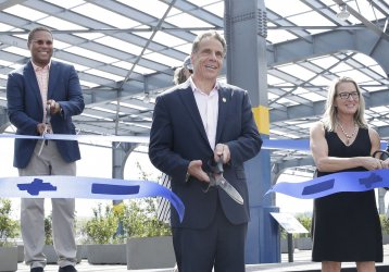 Pier 76 In Hell's Kitchen Opens To Public in New York