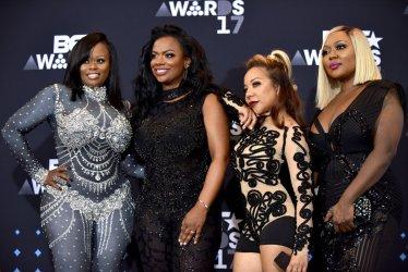 Tamika Scott, Kandi Burruss, Tameka Cottle and LaTocha Scott appear backstage at the BET Awards in Los Angeles